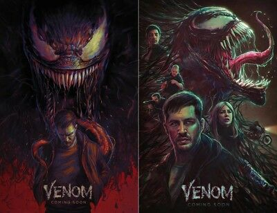 "Venom Movie Poster Tom Hardy Marvel Comics 13x20"" 24x36"" 27x40"" Art Film Print"