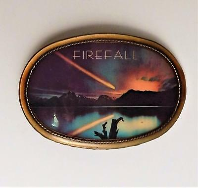 Vintage 1977 FIREFALL Rock Music Band Belt Buckle by Pacifica
