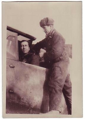 German Wwii Small Size Photo: Air Force Luftwaffe Pilot, Agfa Photo Paper ..