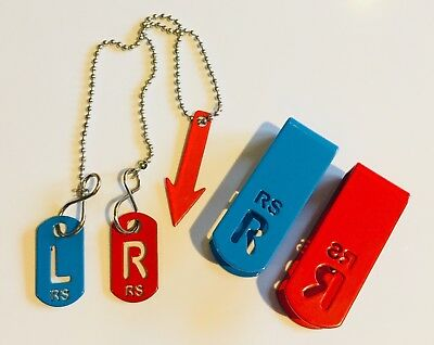 Personalised Radiographers Set, tablet chain clip markers initials FREE delivery