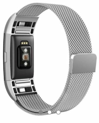 North Mesh Band Fitbit Blaze Steel Milanese Loop Adjustable Magnetic Clasp