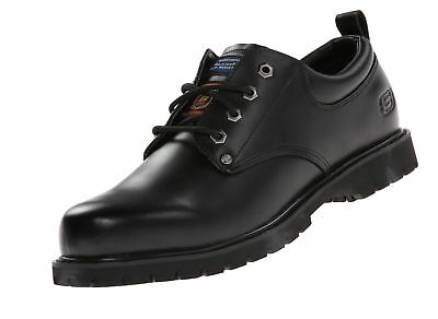7a1e78b4870a 77019 SKECHERS MEN S COTTONWOOD-FRIBBLE SLIP RESISTANT Shoes BLACK ...