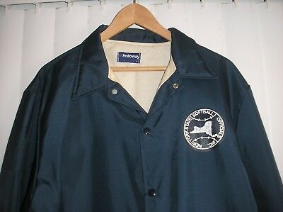 Softball/ Baseball UMPIRE JACKET- Navy Blue LARGE Long Sleeve Lined Windbreaker