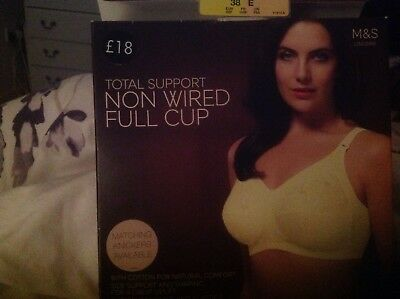 928e520fae New Marks   Spencer Ladies Total Support Non Wired Full Cup Bra Soft Size  38E
