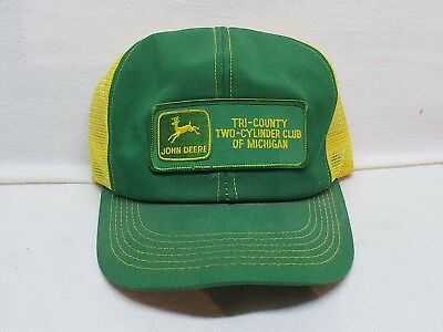 Tri-County Two-Cylinder Club Of Michigan Vintage John Deere Mesh Hat  Patch