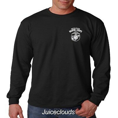 USMC United States Marine Corps American Soldier Marines Men's Long Sleeve Shirt