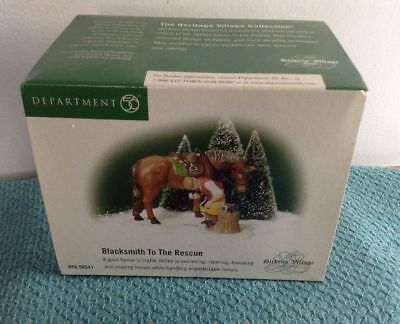 "Dept 56 Dickens Village "" Blacksmith To The Resue "" #58541 Brand New !"