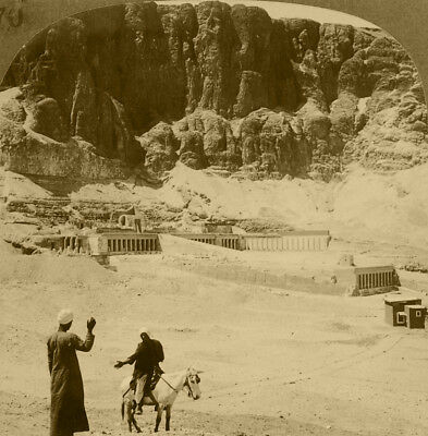 Keystone Stereoview of Queen Makere's Temple at Thebes 1920's Egypt 100 Card Set