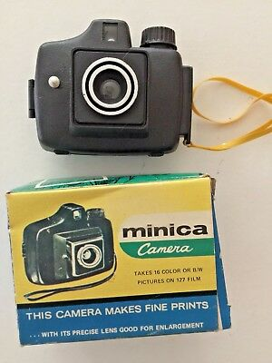 1960's Minica Spy Camera 127 Film /Real Camera with Spool / Hong Kong Toy Camera