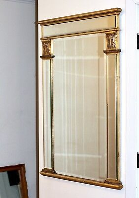 Vintage Antique Gilt Frame Mirror Louis French Style Gold Carving