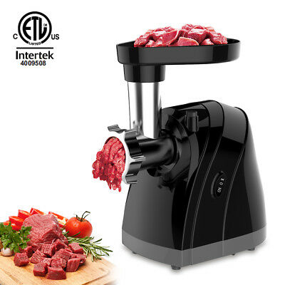 Electric Meat Grinder Home Mincing Machine Sausage Stuffer w/ 3 Grinding Plates