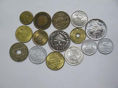 Lebanon Liban 50 25 10 5 1 Piastres Livre Mixed Type World Coin Collection Lot