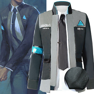 Detroit Become Human RK800 Connor Cosplay Costume Complete Outfit Jacket Coat 01