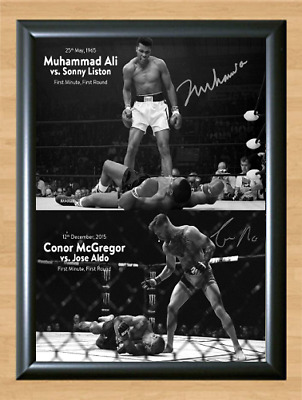 Conor McGregor Muhammad Ali UFC MMA Signed Autographed A4 Print Poster Photo dvd