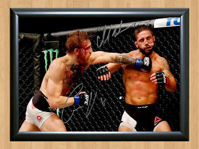 Conor McGregor vs Chad Mendes UFC MMA Signed Autographed A4 Print Poster Photo