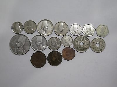 Egypt Piastres Milliemes Silver & Non Mixed Type Old World Coin Collection Lot