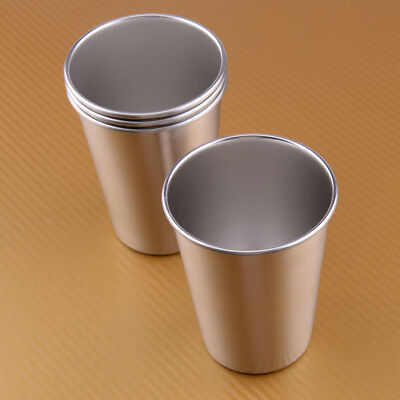 4pcs 350ML Stainless Steel Camping Cup Water Beer Coffee Tea Cup Outdoor Mug