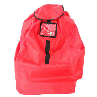 Durable Car Seat Travel Gate Check Bag for Airplane Protective Pouch Red
