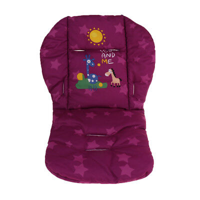 High Chair Cover Baby Stroller Liner Car Seat Pad Cushion Protector Purple