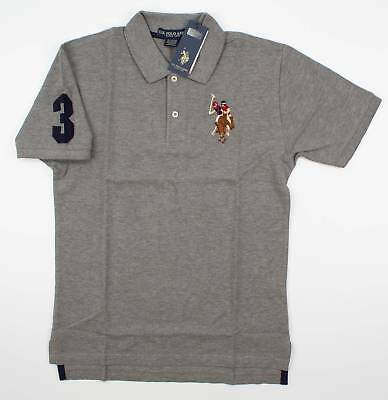 US Polo Assn US Polo Assn-Solid Blue-Boys Polo Shirt