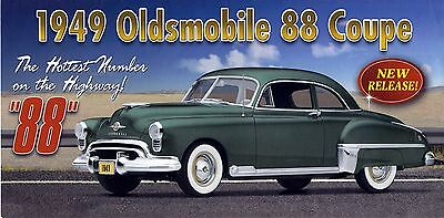 1949 Oldsmobile 88 Coupe Fold Out  Advertisement Paper Ad Only