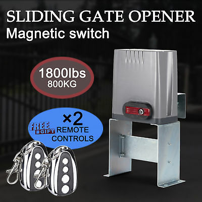 Sliding Electric Gate Opener 800kg Automatic Motor Remote Kit Heavy Duty Chain