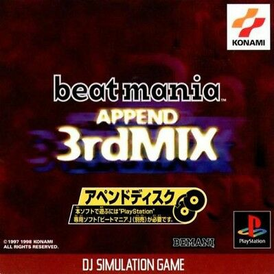 PS1 / Sony Playstation 1 game - Beatmania Append 3rd Mix JAP boxed Box damaged