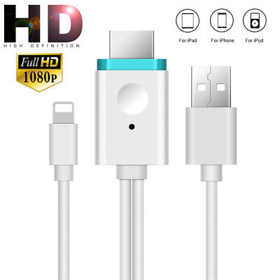1.8M Lightning auf HDMI Adapter Kabel Digital AV HDTV für iPhone7 6 6S X 5C iPad