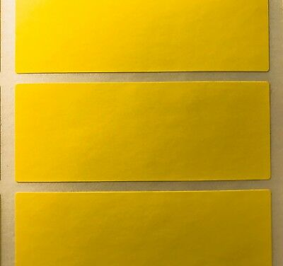 Grand Jaune 30 X 78mm Code Couleur Rectangles / Dossier Stickers -