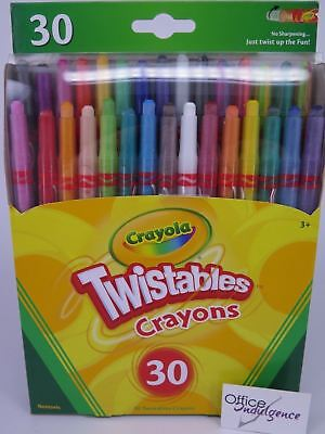 Crayola Twistables Crayons 30/Pack Ages 3+ Non-toxic Twistable 52 9730*