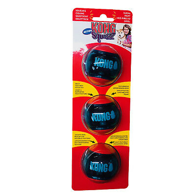 Kong Squeezz ACTION SMALL Ball Dog Toy Squeaky Play Balls - Approx 5.5cm