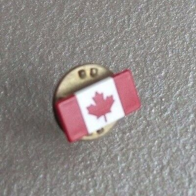 Vintage Tie Tack Stud Pin Retro Tac CANADA CANADIAN FLAG MAPLE LEAF