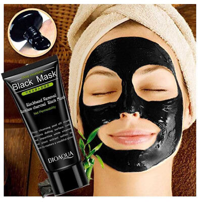 1/10x Blackhead Removal Bamboo Charcoal Black Mask Facial Deep Cleansing Mud ES