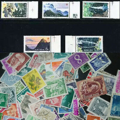 100Pcs Different Worldwide Foreign Sheets Stamp Collection Souvenir~Random Sent