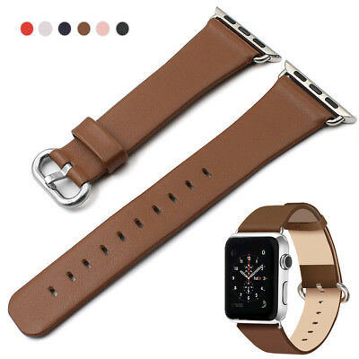 40/44mm Soft iWatch Leather Band Wrist Strap fr Apple Watch Series 4 3 2 1 38/42