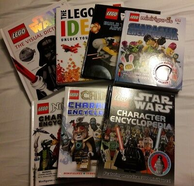 Lego Dk Books Lot Of 7 Ideas Character Encyclopedia Star Wars Minifigures Space