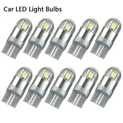 10X 12V T10 194 168 3030 Wedge W5W High Power Car Interior LED Light Bulb White