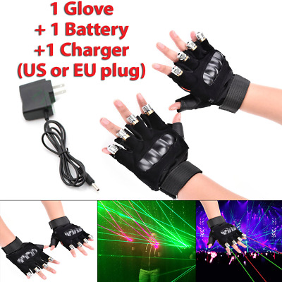 Alternate Red & Green Disco Laser Hand Glove for DJ Bar Club Party Stage Show