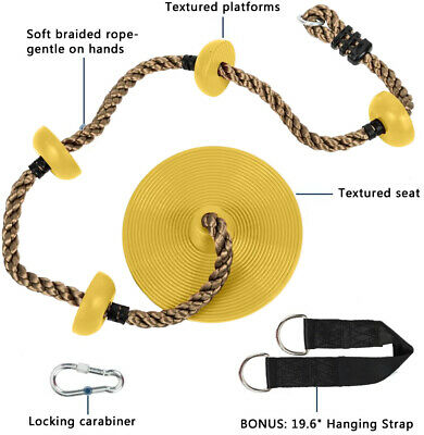 High Back Infant Swing Wide Seat Belt Toddler Child Kid Outdoor Play Yellow Red