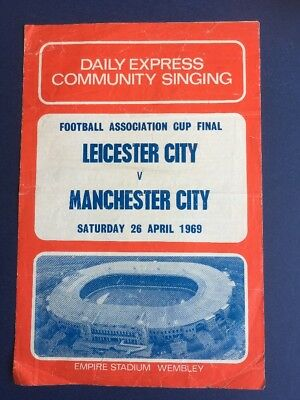 Leicester V Man City 1969 FA Cup Final Songsheet