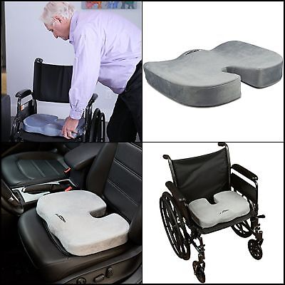 Coccyx Seat Cushion Back Support Washable Cover Tailbone Sciatica Pain Relief