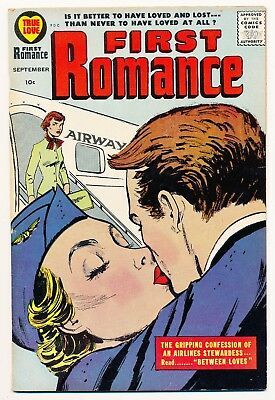 """First Romance (1949) #51 FN """"The Gripping Confession of an Airline Stewardess"""""""