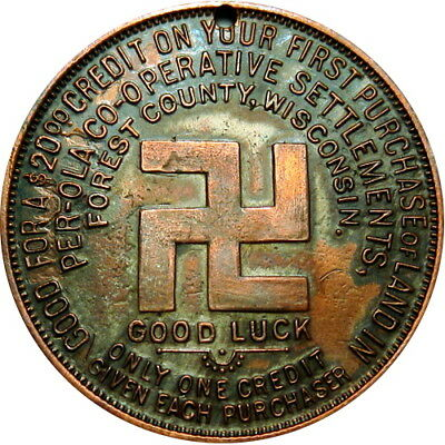 Crandon Wisconsin Good For Token Per-Ola Land Co Swastika