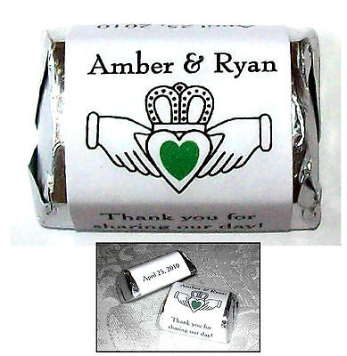 300 Irish Claddagh Wedding Shower Candy Wrappers Favors