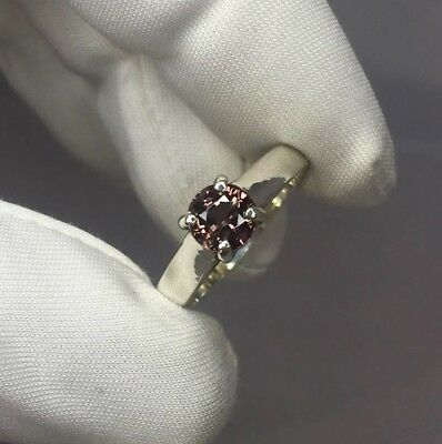 NATURAL Untreated 1.15ct COLOUR CHANGE Garnet Silver Solitaire Ring RARE