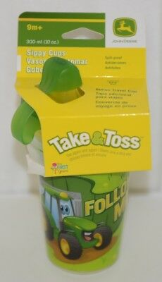 John Deere TBEKY9613A Take Toss Sippy Cups Three 10 Ounce