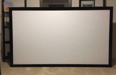 "STR-169100 Silver Ticket 100"" Fixed Frame 16:9 Projector Screen White Material"