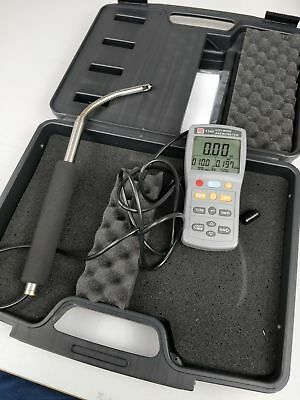 RS Pro 1340 Hot Wire Anemometer with telescope RSCAL(1232224) RS 123-2286