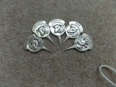 RARE Vintage 5x Collection Silea  Silver Plated Cheese Markers  ,Good Condition.