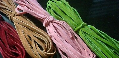 36 Feet faux leather craft lace great 4 beading crafts 4 colors 3 yards ea m027